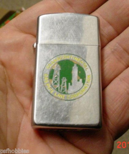 Zippo 1962 Transcontinental Gas Pipe Line Corp Advertising Cigarette Lighter Oil