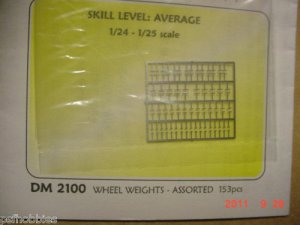 Detail Master Wheel Weights  Photo Etched Model & Diecast Cars
