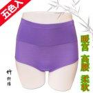 rayon from bamboo High Waist Women Boxer Underwear 6 pieces