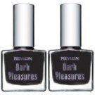 Revlon Dark Pleasures Limited Edition Nail Polish / Lacquer #805 PATENT LEATHER (Qty, of 2
