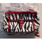 "Lancome Zebra Print Cosmetic Bag 8 1/2"" X 4 1/2"""