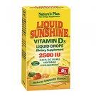 Natures Plus Liquid Sunshine Vitamin D3 2500 IU Liquid Drops - Orange Flavour 10ml