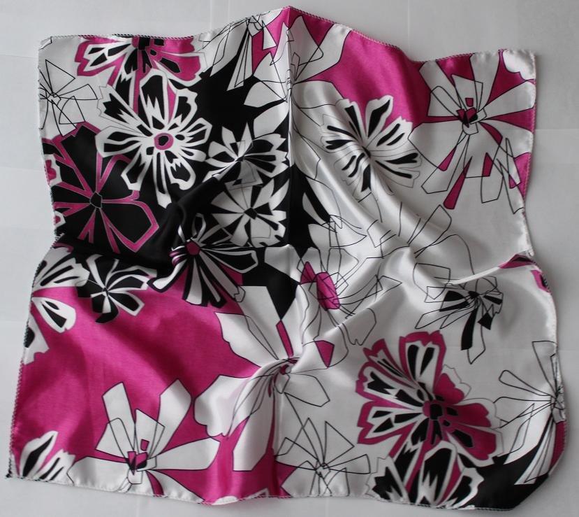 "Gift 20"" Imitation Silk Neck Head Scarf Wrap Floral"