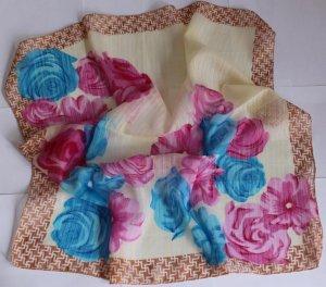 """Gift 24"""" Chiffon Silk Neck Head Scarf Wrap Floral"""