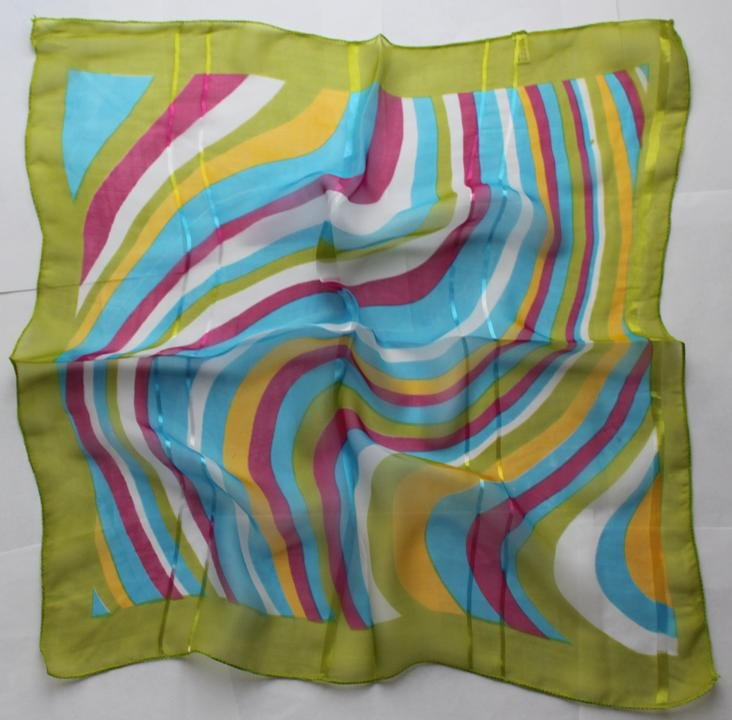 "Gift 20"" Chiffon Square Neck head Scarf Wrap Stripes"