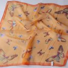 "Gift 20"" Chiffon Neck Head Scarf Wrap Butterfly Orange"
