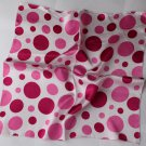 "Gift 20"" Square Neck Head Scarf Wrap Cute Red Pink Dots"