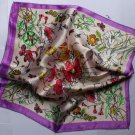 "20"" Imitation Silk Neck head Scarf Wrap colorful floral Fast Shipping"