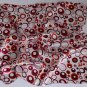 "Gift 20"" Square Neck head Scarf Wrap Red Brown Circles"