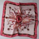 """Gift 20"""" Imitation Silk Scarf Wrap Chains Red Spots Border Fast Shipping"""
