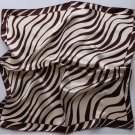 "Gift 20"" Neck Head Scarf Wrap Brown Stripes"