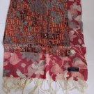 100% Wool Scarf Pink Brown Xmas Gift
