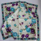 "Gift 24"" silk like Neck Head Scarf Wrap Shawl Flowers with defects - must read description"