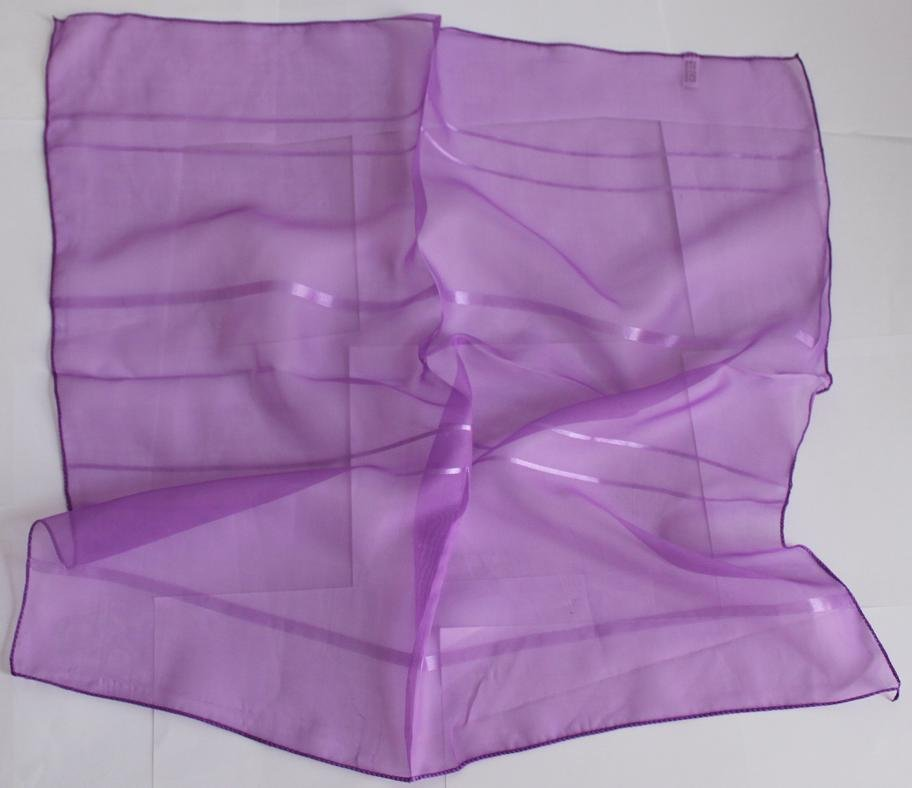 "Gift 21"" Women's Chiffon Neck head Scarf Wrap Violet Fast Shipping"