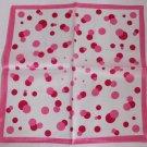 "Gift 20"" Neck head Scarf Wrap Bandana Pink Dots"