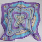 "20"" Chiffon Neck head Scarf Wrap Blue Purple Circles - must read details"