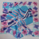 "Gift 26"" Neck head Scarf Wrap Kerchief -- Stripes Flowers"