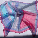 """Gift 20"""" Chiffon Neck head Scarf Wrap Kerchief Blue Red - must read details"""