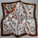 "Gift 23"" silk like Scarf Wrap Shawl Kenchief Bandanna Gray"