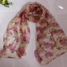 Gift 100% Silk Neck Head Scarf Wrap Belt Flowers - must read details