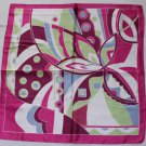 "Gift 23"" Neck Head Scarf Wrap Kerchief Green Blue Pink Border"