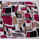 "Gift 20"" Neck Head Scarf Wrap Kerchief Tan Black Red Abstract Drawing"