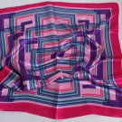 "Gift 23"" silk like Scarf Wrap Shawl Kenchief Bandanna Red"