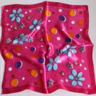 "Gift 20"" Neck Head Scarf Wrap Shawl Red Blue Flowers - must read details"