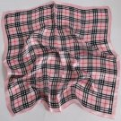 """Gift 20"""" neck head scarf wrap pink chechered stripes - must read description"""