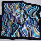 "Gift 24"" Neck Head Scarf Wrap Kerchief Blue Stripes Fast Shipping"