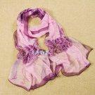 Gift Silk Chiffon Oblong Scarf  Elegant