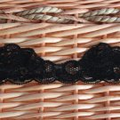 "1.6"", 1.1 yds/pc, 2 pcs, 2.2 yds in total, Stretch Lace Trim Scalloped DIY Floral Gift Black"