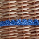 "1.1 Yds 0.55"" Lace Trim DIY Embroidered Floral Gift Blue"