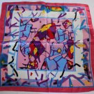 "Gift 24"" silk like Neck Head Scarf Wrap Shawl Abstract Drawing"