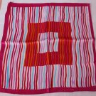 "Gift 20"" Neck Head Scarf Wrap Stripes Pink Red Orange - must read details"