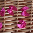 "10 pcs Pink Patch Floral Applique Ribbon bow 0.87"" x 0.98"" Embellishment Hair Bracelets"