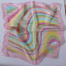 "Gift 20"" Neck Head Scarf Wrap Stripes Pink"