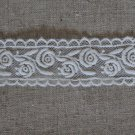 "Beautiful Embroidered Rose Lace Trim 1.1"" Wide 1 Yd DIY Fabric Gift"