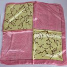 """Gift 20"""" Neck Head Scarf Wrap Pink Yellow Lovely - must read details"""