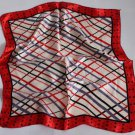 "Gift 20"" Neck Head Scarf Wrap Shawl Red Border Lines - must read details"