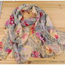 Beautiful Silk Chiffon Oblong Scarf -- Gorgeous
