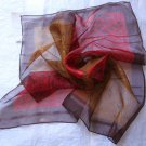 "Gift 21""  Neck head Scarf Wrap Maroon Bronze Fast Shipping + defects"