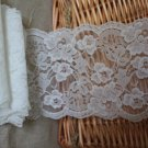 "Soft Smooth lace trim Floral Scalloped Edge 4.8"" Wide 2.2 yds Fast Shipping"