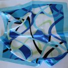 "Gift 24"" Neck Head Scarf Wrap Kerchief Stripes Blue Green with defects"