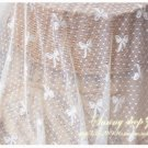 "Elastic Stretch Veil Lace Tulle Gauze Bows Dots 59"" wide 0.5 yd for headwear -must read"