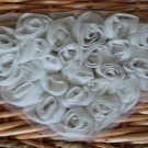 Rose 3D Appliques Patch Flowers on Mesh Heart  +with defect+ Fast Shipping