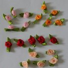 Beautiful Patch Fabric Flowers Appliques 40 pcs Fast Shipping