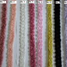 "Chiffon Rose 3D Lace Trim 2-Row Flowers Rosette on Mesh 1.2"" wide 0.8 yd for No. 8"