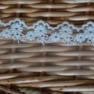 "Lace Trim Embroidered Floral on Mesh 2"" wide 1.5 Yds Fast Shipping"