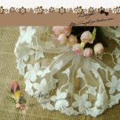 """Lace Trim Embroidered on Mesh Scalloped Floral 5.1"""" wide 1 Yds Fast Shipping"""